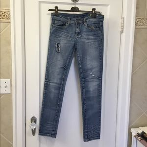 Blank NYC Distressed Mid-rise Jeans